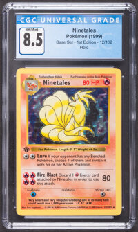 Pokémon Ninetales #12 First Edition Base Set Trading Card (Wizards of the Coast, 1999) CGC NM/Mint+ 8.5