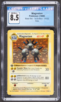 Pokémon Magneton #9 First Edition Base Set Trading Card (Wizards of the Coast, 1999) CGC NM/Mint+ 8.5