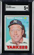 Baseball Cards:Singles (1960-1969), 1967 Topps Mickey Mantle #150 SGC EX 5. Offered is...