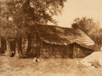 Edward Sheriff Curtis (American, 1868-1952) A Diegueño Home, 1924 Photogravure on Japanese paper, printed by Suff...