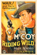 Movie Posters:Western, Riding Wild (Columbia, 1935). Very Fine+ on Linen....