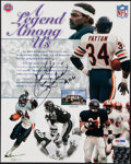"""Autographs:Others, Walter Payton Signed Print. Offered is an 8x10"""" pr..."""