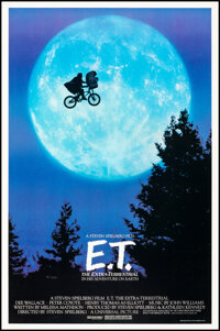 """E.T. The Extra-Terrestrial (Universal, 1982). Rolled, Very Fine+. One Sheet (26.75"""" X 40.5"""") Bicycle Style. Sc..."""