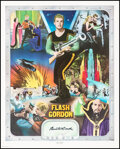 Movie Posters:Serial, Buster Crabbe as Flash Gordon (Nostalgia Merchant, 1977). Very Fine-. Autographed and Hand Numbered Limited Edition Print (2...