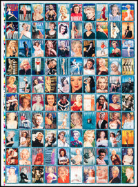 """Marilyn Monroe 1993 Trading Cards (Sports Time, 1987). Rolled, Very Fine-. Uncut Trading Card Printer's Proof (26.5""""..."""