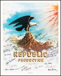 """Movie Posters:Miscellaneous, The Stars of Republic Pictures (Nostalgia Merchant, 1981). Rolled, Very Fine. Autographed Poster (24"""" X 30""""). Miscellaneous...."""