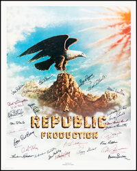 """The Stars of Republic Pictures (Nostalgia Merchant, 1981). Rolled, Very Fine. Autographed Poster (24"""" X 30"""")..."""