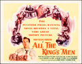 """Movie Posters:Academy Award Winners, All the King's Men (Columbia, 1949). Folded, Fine/Very Fine. Half Sheet (22"""" X 28"""") Style B. Academy Award Winners.. ..."""