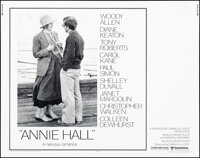 """Annie Hall (United Artists, 1977). Rolled, Very Fine+. Half Sheet (22"""" X 28""""). Comedy"""