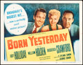 """Movie Posters:Comedy, Born Yesterday (Columbia, 1950). Folded, Very Fine-. Half Sheet (22"""" X 28""""). Comedy.. ..."""