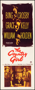 """Movie Posters:Drama, The Country Girl (Paramount, 1954). Folded, Very Fine. Insert (14"""" X 36""""). Drama.. ..."""