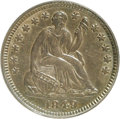 Seated Half Dimes, 1849 H10C AU58 PCGS. Ex:Will W. Neil. PCGS Population (10/39). NGCCensus: (13/65). Mintage: 1,309,000. (#4341)...