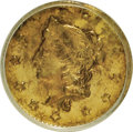 California Fractional Gold, 1869 50C Liberty Round 50 Cents, BG-1021, High R.6, AU58 PCGS. PCGSPopulation (3/8). NGC Census: (0/1). (#10850)...