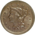 1851 1C MS64 Brown PCGS. PCGS Population (105/55). NGC Census: (154/226). Mintage: 9,889,707. Numismedia Wsl. Price for...