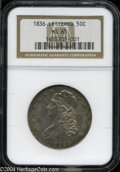 Bust Half Dollars: , 1836 Lettered Edge MS65 NGC. ...
