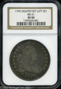 Early Dollars: , 1795 Draped Bust, Centered BB-51 XF40 NGC. ...