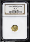 Commemorative Gold: , 1904 Lewis and Clark MS66 NGC. ...