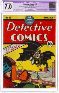 Detective Comics #27 (DC, 1939) CGC Apparent FN/VF 7.0 Extensive (A-5) White pages