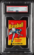 Baseball Cards:Unopened Packs/Display Boxes, 1975 Topps Mini Baseball Wax Pack PSA NM 7. Offere...