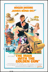 """The Man with the Golden Gun (United Artists, 1974). Folded, Very Fine+. One Sheet (27"""" X 41"""") Robert McGinnis..."""