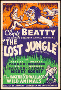 """Movie Posters:Serial, The Lost Jungle (Mascot, 1934). Folded, Fine+. One Sheet (27"""" X 41""""). Serial.. ..."""