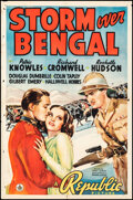 """Movie Posters:Adventure, Storm Over Bengal (Republic, 1938). Folded, Fine+. One Sheet (27"""" X 41""""). Adventure.. ..."""