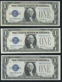 Fr. 1601 $1 1928A Silver Certificates. Three Examples. Crisp Uncirculated or Better. ... (Total: 3 notes)