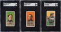 Baseball Cards:Lots, 1909-11 T206 Piedmont/Old Mill Chicago Cubs SGC-Graded Tri...