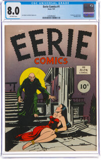 Eerie #1 (Avon, 1947) CGC VF 8.0 Off-white pages