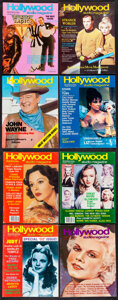 """Movie Posters:Miscellaneous, Hollywood Studios (San Fernando Valley Pub. Co, 1971-1983). Fine/Very Fine. Magazines (52) (Multiple Pages, 8.5"""" X 11""""). Mis... (Total: 53 Items)"""
