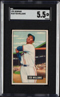 """Baseball Cards:Singles (1950-1959), 1951 Bowman Ted Williams #165 SGC EX+ 5.5. """"The Sp..."""