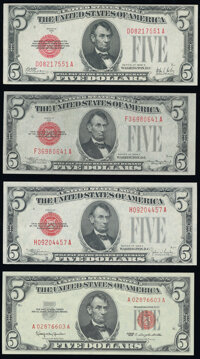 Fr. 1526 $5 1928A Legal Tender Note. Very Fine; Fr. 1528 $5 1928C Legal Tender Note. Choice About Uncirculated; Fr...