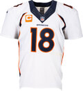 Football Collectibles:Uniforms, 2015 Peyton Manning Game Worn, Unwashed & Signed Denver Br...