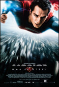 """Movie Posters:Action, Man of Steel (Warner Bros., 2013). Rolled, Very Fine+. One Sheet (27"""" X 40"""") DS Advance. Action.. ..."""