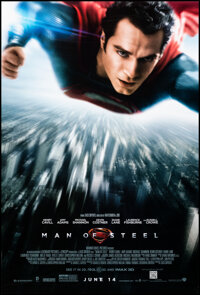"""Man of Steel (Warner Bros., 2013). Rolled, Very Fine+. One Sheet (27"""" X 40"""") DS Advance. Action"""