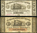 Obsoletes By State:Louisiana, New Orleans, Jackson & Great Northern Rail Road Company Two Locations.. New Orleans, LA- $1 Nov. 10, 1861 Very Fine-Extrem... (Total: 2 notes)
