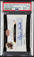 Baseball Cards:Singles (1970-Now), 2004 Leaf Certified Cuts Ozzie Smith (Check Signature Mate...