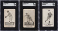 Baseball Cards:Lots, 1920-1922 SGC Graded Candy and Bread Cards Lot (3).