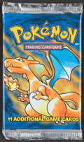 Memorabilia:Trading Cards, Pokémon Unlimited Base Set Sealed Booster Pack #21 THIS L...