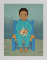 Gustavo Montoya (1905-2003) Cocina and Alcancia (two works), from Niños Mexicanos, 1985 Serigraphs in colo... (To...