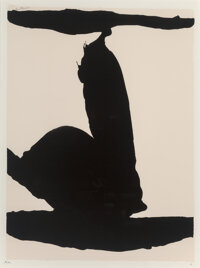 Robert Motherwell (1915-1991) Africa I, from Africa Suite, 1970 Screenprint on wove paper 28 x 40-1/4 inches (71