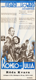 Movie Posters:Drama, Romeo and Juliet (MGM, 1936). Folded, Fine/Very Fine Backe...