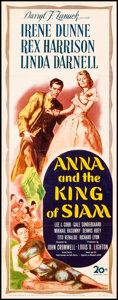 """Movie Posters:Drama, Anna and the King of Siam (20th Century Fox, 1946). Folded, Fine/Very Fine. Insert (14"""" X 36"""") Saul Tepper Artwork. Drama.. ..."""