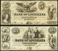 Obsoletes By State:Louisiana, New Orleans, LA- Bank of Louisiana $5; $10 June 14, 1862 Fine or Better.. ... (Total: 2 notes)