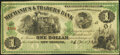 Obsoletes By State:Louisiana, New Orleans, LA- Mechanics and Traders Bank $1 Dec. 26 1873 Remainder Very Fine.. ...