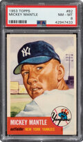 Baseball Cards:Singles (1950-1959), 1953 Topps Mickey Mantle #82 PSA NM-MT 8. Mantle's...