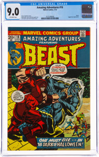 Amazing Adventures #16 Beast (Marvel, 1973) CGC VF/NM 9.0 Off-white pages