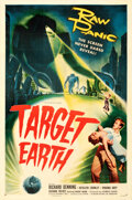 Movie Posters:Science Fiction, Target Earth (Allied Artists, 1954). Very Fine on Linen.