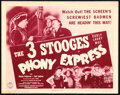 Movie Posters:Comedy, The Three Stooges in Phony Express (Columbia, 1943). Very ...