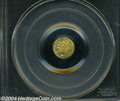 California Fractional Gold: , 1868 Liberty Round 25 Cents, BG-806, R.3, MS65 PCGS....